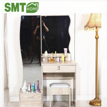 new designs modern dressing table with tall mirrors