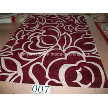 Flower Design Top Wool Carpet Rug Textile