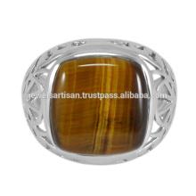 Latest Designer Tiger Eye Gemstone 925 Sterling Silver Ring