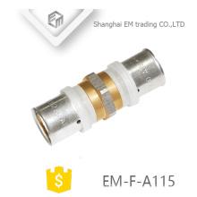EM-F-A115 conexión de enchufe recto unión de tubería de unión de latón niquelado