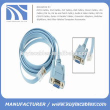 RJ45 para DB9 Female Console Rollover Cable Connector