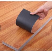 приклеить деревянные виниловые плитки для пола