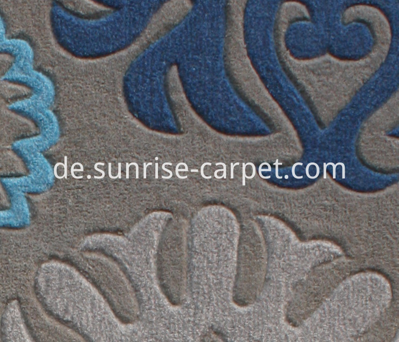 Hand Tufted Carpet with mix color yarn