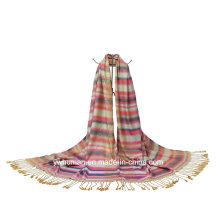 Women′s Long Soft Wrap Polyester Stripe Scarf