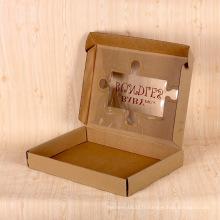 Boîte de papier fait sur commande de luxe de papier d'or Boîte de papier de vente en gros de Kraft