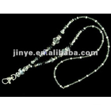 Bling Crystal Beaded Gemstone Jewelry Lanyard with Key Lobster Promotion Gift