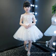 Ivory Flower Short Sleeve Girl Gowns