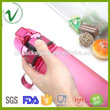 Álcool de qualidade com água vazia garrafa de água desportiva de plástico higiênico