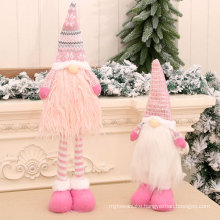 Cross-border new arrival retractable Santa doll Nordic faceless elderly doll Christmas children gift