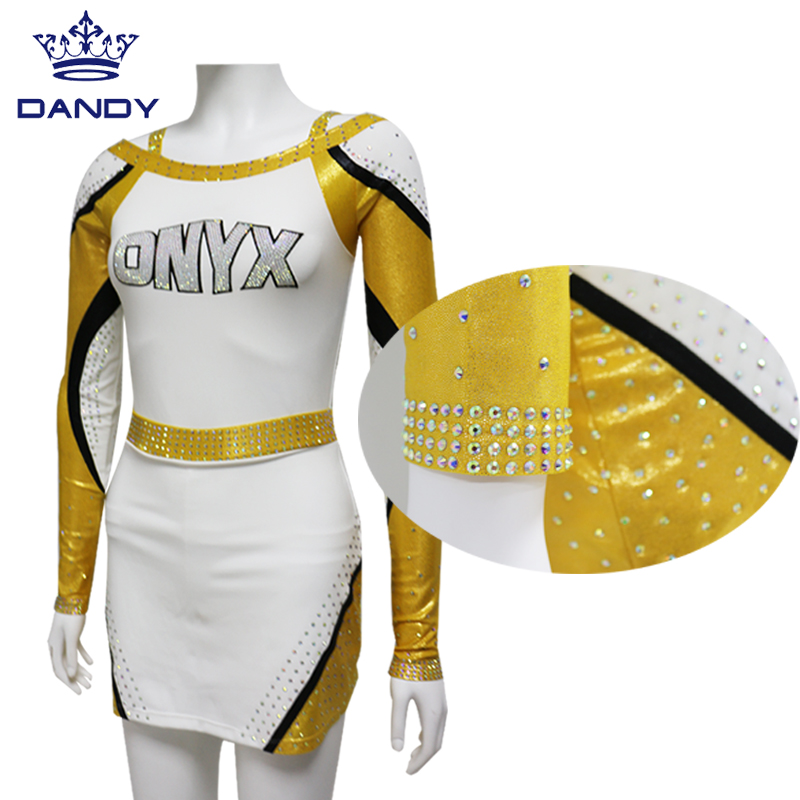 white cheerleading outfit