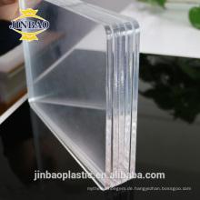 JINBAO klare farbe 4x8ft UV anti pmma bretter kunststoff acryl blatt