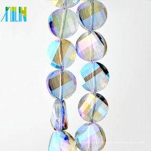 Grânulos de Rondelle facetada de vidro de cristal