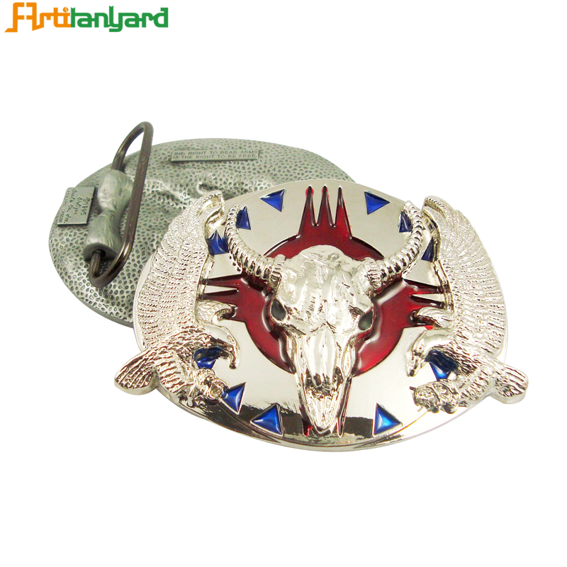 Metal Belt Buckle With Ox