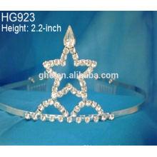 Rhinestone beauty crown headdress birthday the bride's headdress festival stars crown