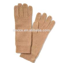 PK17ST031 China supplier Italian cashmere gloves Chevron-Rib