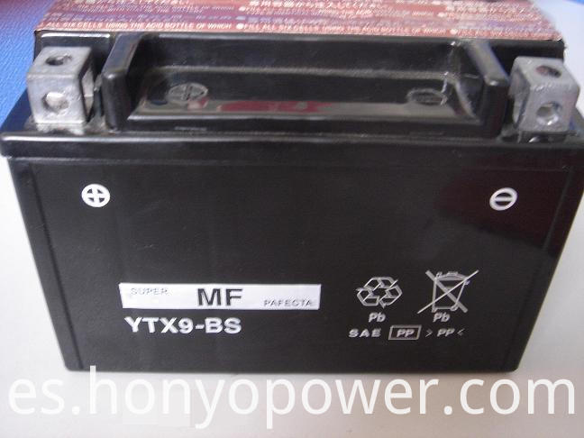 YTX9-BS MF Motorcycle Batteries