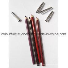 Wooden Soft Waterproof Lip Liner Pencil Eyebrow Pencil
