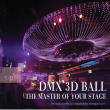 Esfera da esfera do diodo emissor de luz do vídeo 3D de DMX IP65