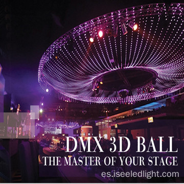 Esfera de bolas DMX video 3D LED IP65