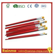 Длинная ручка с отбеленной головкой щетины