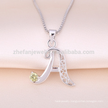 customized design fashion letter s/p/r/d/v/n pendant jewelry
