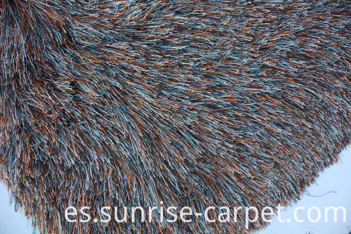 Polyester Shaggy Rug Long Pile Mix Color