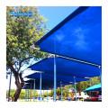 HDPE refugios retráctiles toldos protección UV