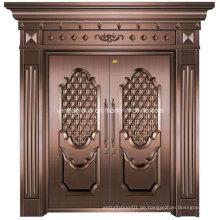Art Style Exterior Eingang Sicherheit Metall Stahl Kupfer Tür (W-GB-04)