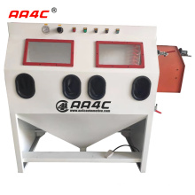 AA4C customized making dry industrial sandblast electric cabinet with dual station double location AA-SBC2500