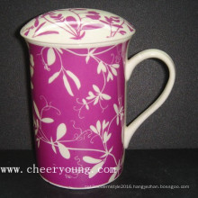 Ceramic Cup with Lid (CY-P817A)