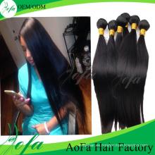 Extensión brasileña del pelo humano del pelo de la Virgen del precio al por mayor barato