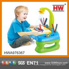 Hot Selling 4 In 1 Projector Desk Learning Easel For Kid