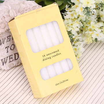 Lilin White Tapers dengan Cotton Wicks