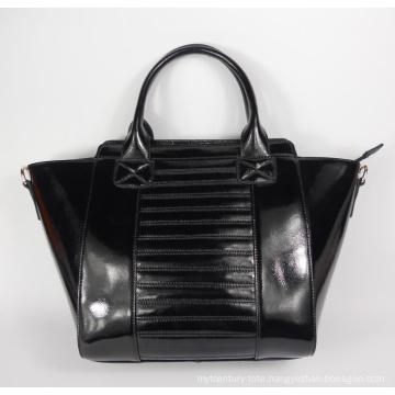 Guangzhou Supplier Black Women Fashion Handbag (198)