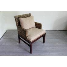 Antiguo jacinto de agua café y comedor silla muebles de mimbre
