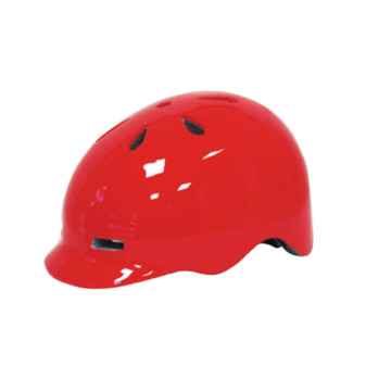 En molde PC shell Skateboard casco con visera