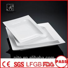 P & T керамическая фабрика, белые глубокие пластины, квадратные супы