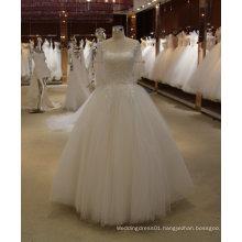 A Line/Princess Cheap Wedding Dress with Applique Bodice