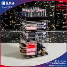 Custom Cosmetic Rotating Balck Acryl Display Ständer für Lippenstifte