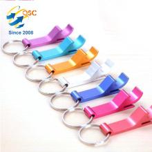 Colorful new design multifunctional zinc alloy keyring bottle opener