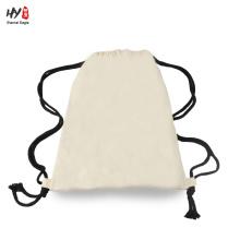 Wholesale plain cotton backpack bag