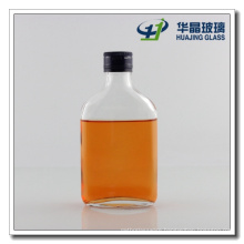 180ml Oblate Small Glass Spirits Bottle with Aluminum Cap