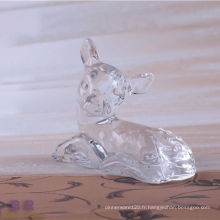 Animal en forme de cerf en cristal pour la décoration