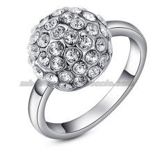 Elegant Charming Australian Crystal Wedding Bridal Rings