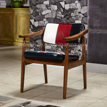 Upholstered Leather Wooden Fram Coffee Dining Chair (SP-EC653)