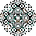 100% cotton print design round beach towels