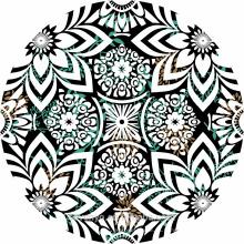 Toallas de playa redondas con diseño de impresión 100% algodón
