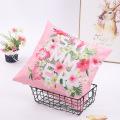 Housse de coussin taie d'oreiller en velours rose flamants roses