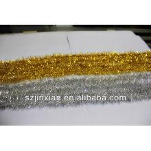 Золото и серебро блестящая мишура ПЭТ строки/украшение партии
