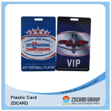 Hard PVC Conference Events or Exhibitor Hanging Tag Card